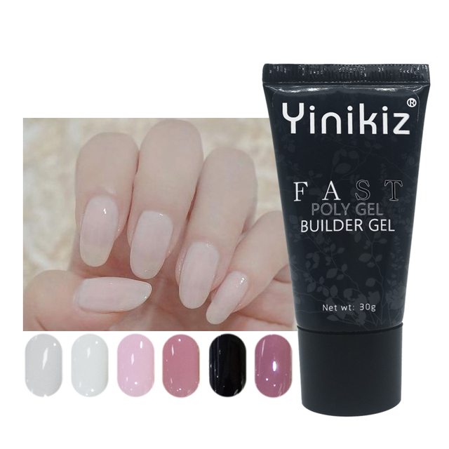 Yinikiz 30g Newest Nail Art Clear Camouflage Color Fibre Gl Hard Jelly Quick Building Gel