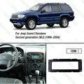 1DIN carro remontagem quadro DVD de instalação traço painel de bordo Kits para Jeep Grand Cherokee ( 1999 - 2004 ) ( WJ ) J-1663