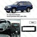1DIN reacondicionamiento coche estéreo marco del DVD Fascia Dash Panel instalación para Jeep Grand Cherokee ( 1999-2004 ) ( WJ ) J-1663