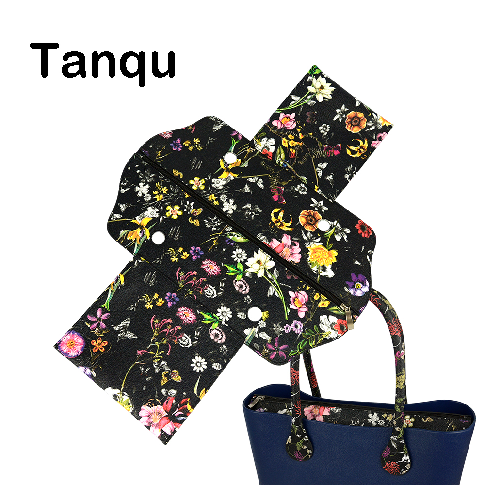 TANQU Classic Mini PU Leather Zip Top Street False Inner Lining Insert For Obag Standard Mini O Bag Women's Handbag Accessory
