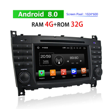 2 Din Android Car Radio for Mercedes-Benz C CLC G-Class W203 W467 2004~2011 DVD Player GPS Navigation 3G 4G Car Stereo Bluetooth