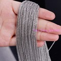 Wholesale Jewelry 5/10/20 Meter Silver 1/2/2.4/3mm Fashion 316L Stainless Steel Tone Cross Chain In Bulk Factory High Quality