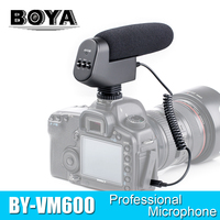 BOYA BY VM600 Cardioid Directional Condenser Microphone Mic for Canon Sony Nikon Pentax DLSR Camera