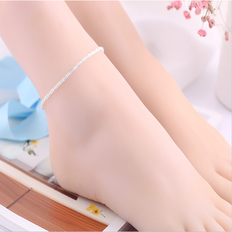 1PC Hot Summer Beach Ankle Infinite Silver Color Foot Jewelry Anklets ankle bracelets for font b