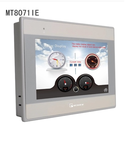 MT8071iE Weintek/Weinview HMI 7 Inch Touch Panel, Built-in Ethernet (New and Original) plc ethernet plc elc 12dc da r n hmi built in ethernet capability
