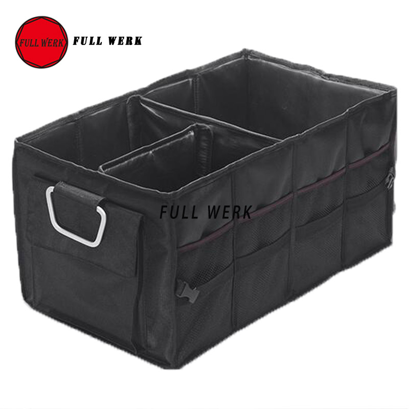 1 PC Car Trunk Organizer Box Folding Storage Bag Oxford Cloth Car Organiser for Auto Accessories Stowing Tidying Collapsible Bag fashionable buttons and patch embellished knitted beanie for men