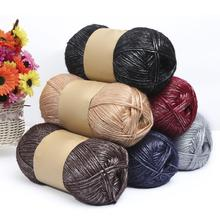 100g Pure Color Knitting Woolen Yarn Clothes Durable Sock Scarf Hat Gloves Sweater Woven Material Wool for