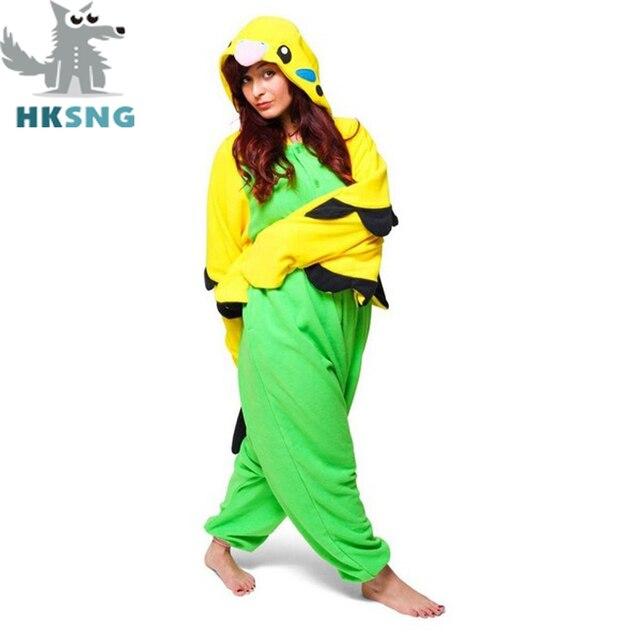 701a53dfc1 HKSNG New Adult Unisex Animal Parrot Pajamas Cartoon Blue Green Budgie  Cosplay Costumes Cartoon Kigurumi Onesies