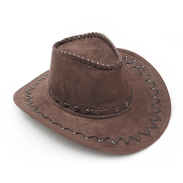 0dcd76198232e9 Western Cowboy Cowgirl Cattleman Hat for Kids Children Party Costume (Dark  Brown)