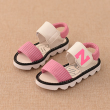 Girls Shoes 2016 New Arrival Hot-selling Girls Sandals Non-slip Fashion Splice Color Girls Sandal Size 27-37 Free Shipping