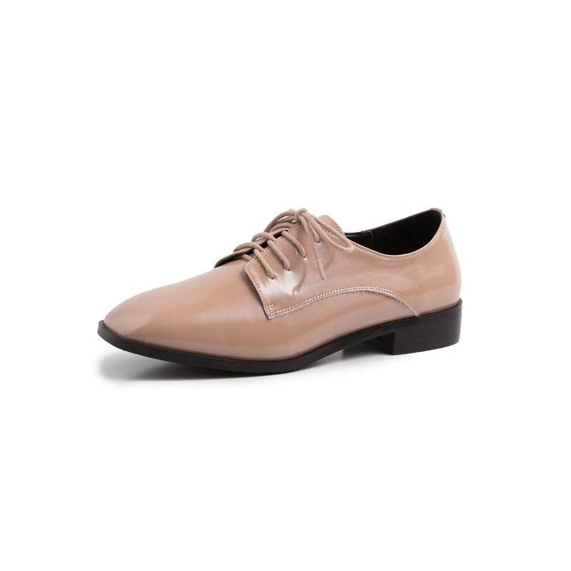 Eshtonshero 봄 여성 신발 여자 펌프 특허 가죽 낮은 발 뒤꿈치 광장 발가락에 슬립 클래식 숙 녀 웨딩 신발 크기 3 11-에서여성용 펌프부터 신발 의  그룹 3