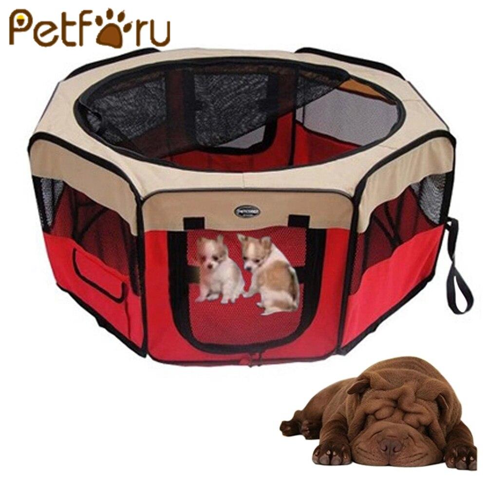 Petforu Pliable Pet Maison Tente Extra large Espace D'exercice Étanche Maison Chenil Tente Lit pour Animaux de Compagnie Chiot Chiens Chats