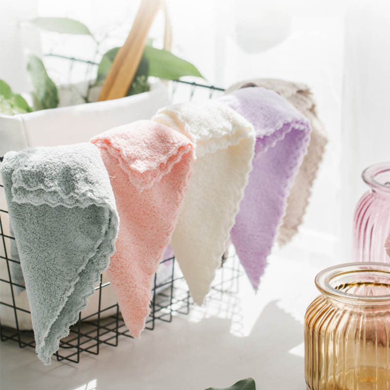 Hand Towel Child Feeding Wipe Cloth Handkerchief 25*25CM 1PC Baby Washcloth Microfiber Soft Bathing Towels