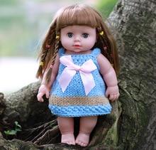 Blink глаза 30 см Мини-куклы реборн реалистичный, похожий на естественный Полный Силиконовые винил девушка игрушки для детей, подарки