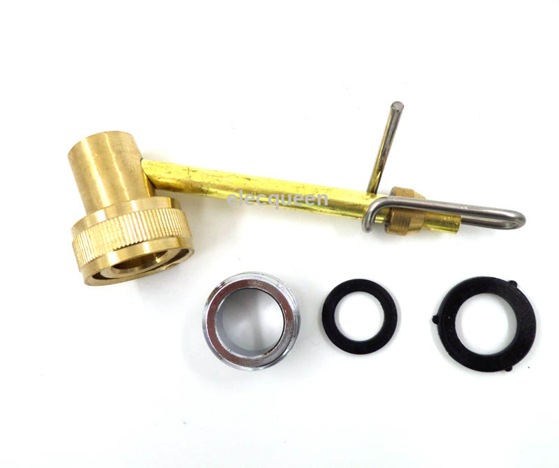 Brass Carboy & Bottle Washer Rinser With Stainless Kitchen Faucet Adapte For Homebrew