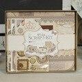 DIY Mini Photo Album Making Kit Vintage Scrapbook Album Set for Kid Birthday Wedding Scrapbooking Gift