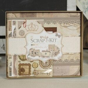 Kit de fabrication d'album Photo en Viscose   Mini Album, à feuilles amples, bricolage, ensemble d'album classique de Scrapbook, cadeau d'anniversaire pour enfant, de mariage, Scrapbooking