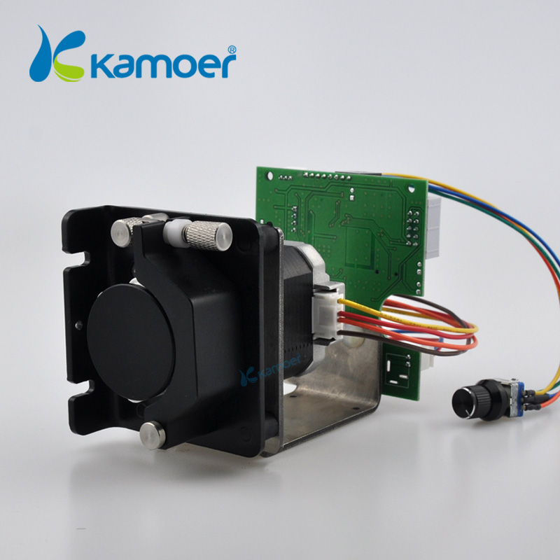 цена на Kamoer KCS mini peristaltic pump stepper motor 12V/24V electric water pump with speed control board
