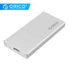 Carcasa de aluminio ORICO USB C a mSATA SSD USB3.1 mSATA carcasa de disco duro SuperSpeed para Windows/Linux/Mac(China)