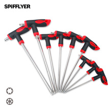 цена на 9PC Torx Screwdriver Set Double Head Safety Torx Star Hex Key Wrench T10 T15 T20 T25 T27 T30 T40 T45 T50 S2 Steel Hand Tool Set