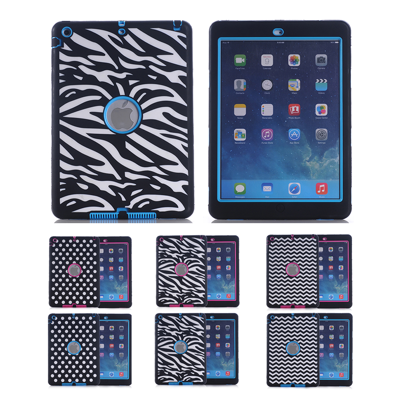 Full Body Protective Case for iPad Air 1/iPad 5 Colorful Luxury Shockproof Silicone High Impact Defender Back Cover Kids Safe