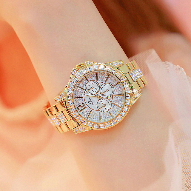 Dropshipping Top Brand Fashion Ladies Watch Stainless Steel Female Quartz Watch
