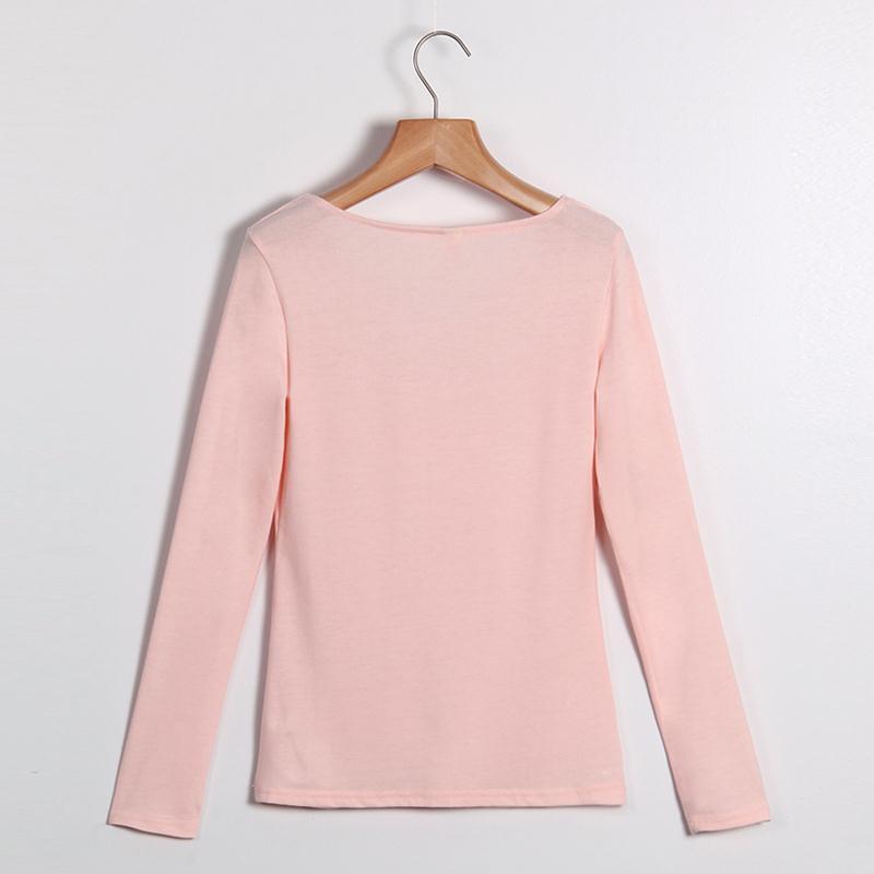 HTB1EibrMVXXXXcJXFXXq6xXFXXX9 - Autumn T Shirt Women Long Sleeve Slim Fit Solid