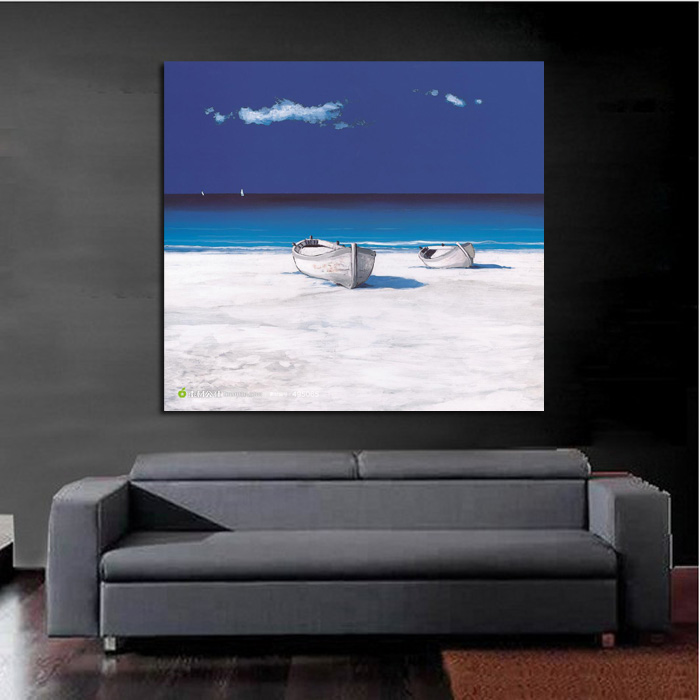 Us 1836 49 Offhandpainted Home Decor Art Crazy Blue Sky Oil Painting Wall Art On Canvas Wall Stickers Scenery Pictures In Painting Calligraphy