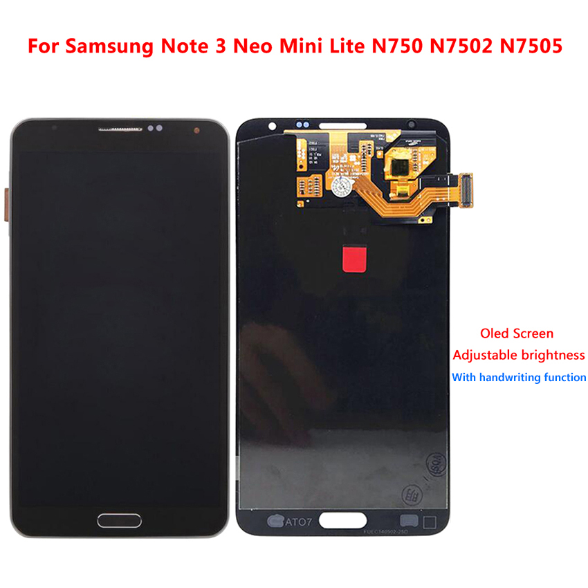 For Samsung Galaxy Note3 Note 3 Neo Mini Lite N750 N7502 N7505 LCD Screen Display Touch Digitizer Replacement Super AMOLED LCDs