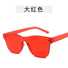 Women Sunglasses Candy Color Transparent Frame Eye Sun Glasses Shades for Vintage Trending Products 2019