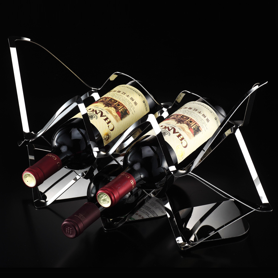 Decorative Metal Wine Racks Us 40 Stainless Steel Wine Rack Creative Modern Style Wine Decoration Fashion Furnishings Metal Wine Stand In Wine Racks From Home Garden On