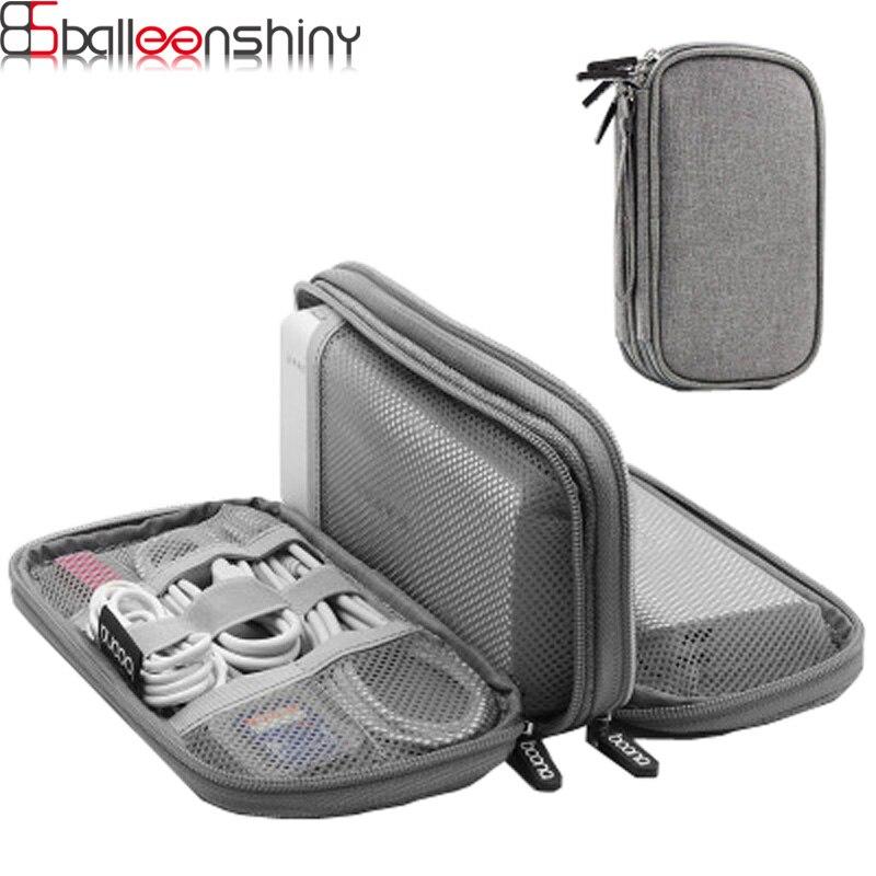 BalleenShiny De Charge Trésor Protection Couverture 10000/20000 Ma Puissance Mobile Sac De Stockage Numérique USB Données Câble HDD Organisateur