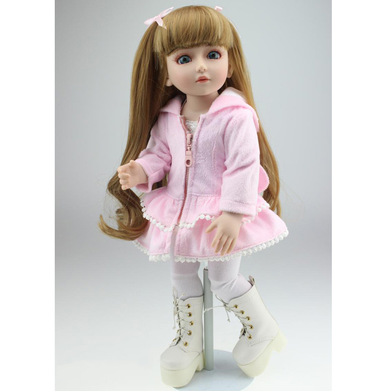 2015 Best Gift 18Inch 45CM SD BJD Doll Silicone High Quality Toys Baby Doll For Girls handsome grey woolen coat belt for bjd 1 3 sd10 sd13 sd17 uncle ssdf sd luts dod dz as doll clothes cmb107