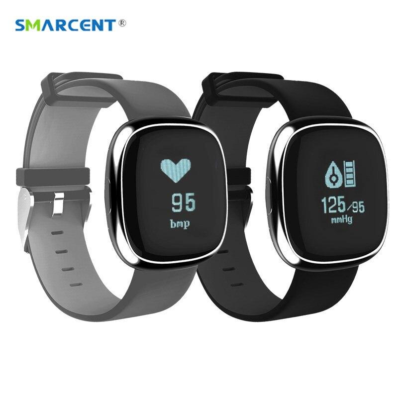 imágenes para SMARCENT P2 Banda Inteligente Monitor de Presión Arterial Heart Rate Monitor Podómetro Gimnasio Rastreador Pulsera Smartband para Android IOS