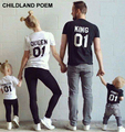2016 summer Family Matching Outfits T-shirt Family Look Family matching clothes Cotton Short-sleeved matching family clothes