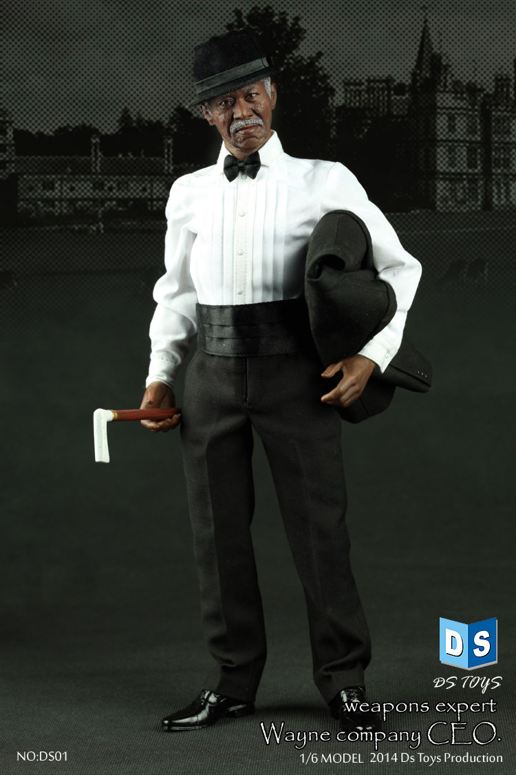 Morgan Freeman 1/6 Scale Action Figure Model Toys Weapon Expert Batman Wayne Company Adviser Male   Lifelike Model Gifts Collect