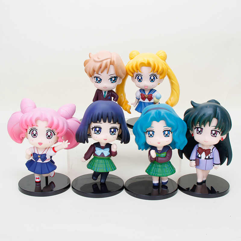 Chibiusa Sailor Moon Saturno Netuno Mars 10 centímetros PVC Action Figure Toy Model Collection