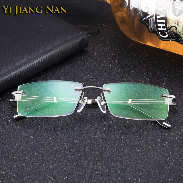 5ebe4d9d4cbc Yi Jiang Nan Brand Glasses Myopia Rimless Alloy Eyeglasses Fashion Business Style  Spectacles Trend Frameless Eye Glass for Men