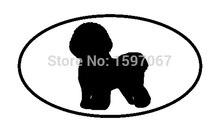 bichon frise dog breed shape oval sticker for car window door laptop kayak art vinyl decal 8 colors - Frise Vinyle