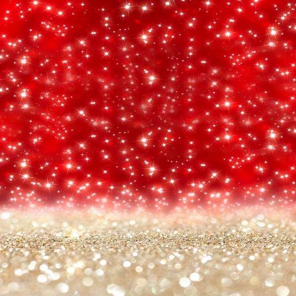 Natal Wallpaper 3d Sparkly Glitter Red Gold Bokeh Sequins Backdrops Vinyl