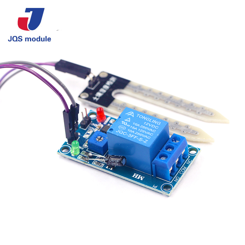 Soil Moisture Sensor 12V Relay Control Module DC 12V soil moisture sensor relay Automatic watering of humidity starting switch thermal temperature sensor module water sensor module for moisture drop depth of water test