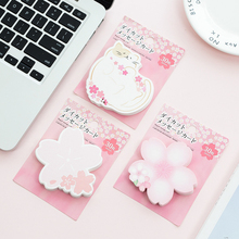1pack /lot Japanese Cute Cherry Series Self-Adhesive N Times Memo Pad Sticky Notes paper stationery office School supplies