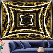 Nordic Style Classical Deconstruction gold chain Tapestry Vintage personality punk Tapestries Retro macrame Wall Hanging