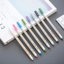 10 цветов металлическая маркер ручка для поделок, скрапбукинга мягкая ручка художественная маркер ручка для канцелярских принадлежностей школьные принадлежности