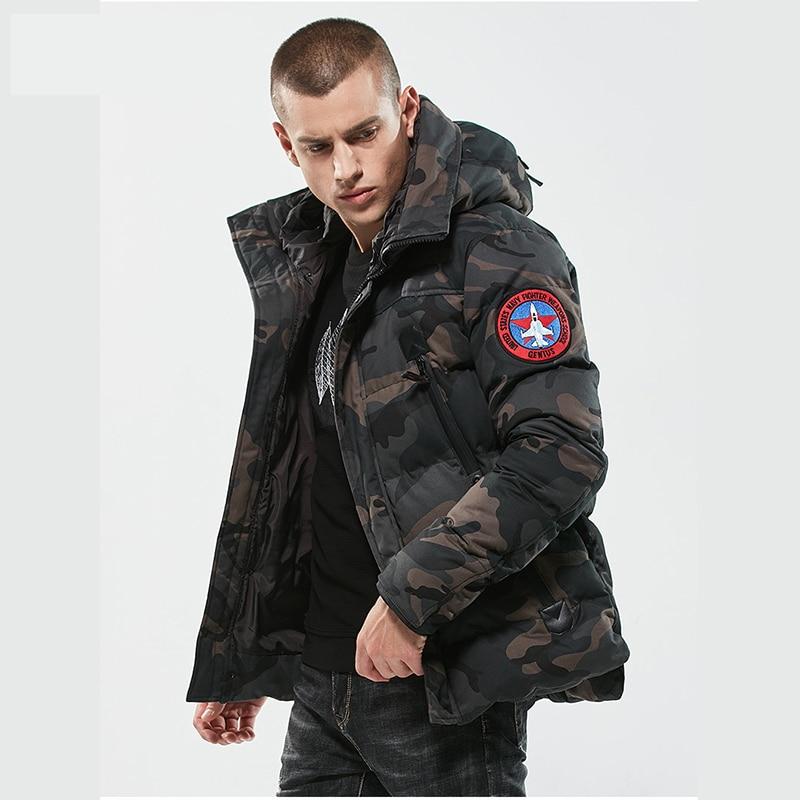 Winter Men Jacket Thicken Brand Clothing Windproof Warm Hooded Coat Male Outdoor Sport Adventure Camouflage Down Jacket