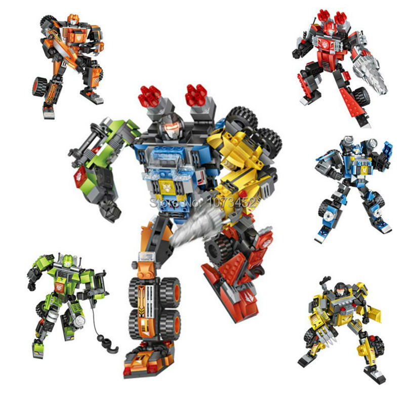 loz mini blocks transformation robot action figures building bricks Plastic Assembly toys combination brinquedos juguetes for 8+ 2015 new gift smae as loz building blocks small animal minion mario transformation minifigures cartoon characters 3d bricks toys