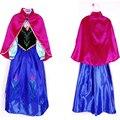 NEW 2017 Dresses For Girls Cosplay Party Anna Elsa Dress Snow Queen Beautiful Chiffon Baby Girls Fantasia Dress Kids Costume