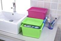 1 PC 4 Kolory PP pojemniki Plastikowe pudełko do przechowywania zabawek rozmaitości przechowywanie narzędzi kosmetycznych przypadku z podwójnym klamry J0706