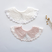 2019 new 360 degree rotating round baby bib cotton saliva towel lace fake collar tie newborn boy girl scarf