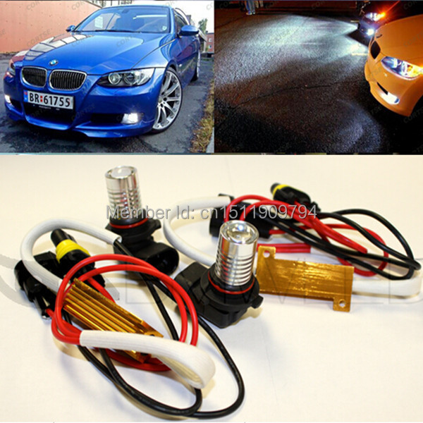 H11 H8 Canbus NO Error LED Fog Lights For BMW  E63 E64 E90 E91 E92 E93 328i 328xi 335i 335xi X5 E53 E70 E46 325i 330i X3 E83 Z4 h11 h8 led projector fog light drl no error for bmw e71 x6 m e70 x5 e83 f25 x3 2004 for e53 x5 2003 2006 e90 325 328 335i